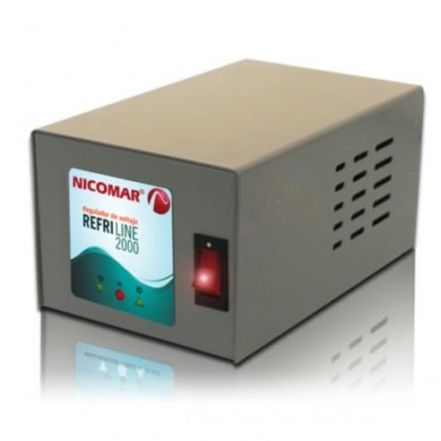 Regulador Electrónico de Voltaje 2000VA Refriline 2.000 para electrodomésticos