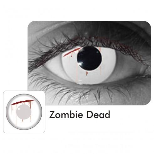 Lentes Crazy Zombie Dead Sangre Ojo Puñal