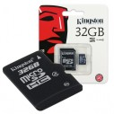 32gb Memoria Microsd Kingston Micro Sd y adapt a SD 32GB