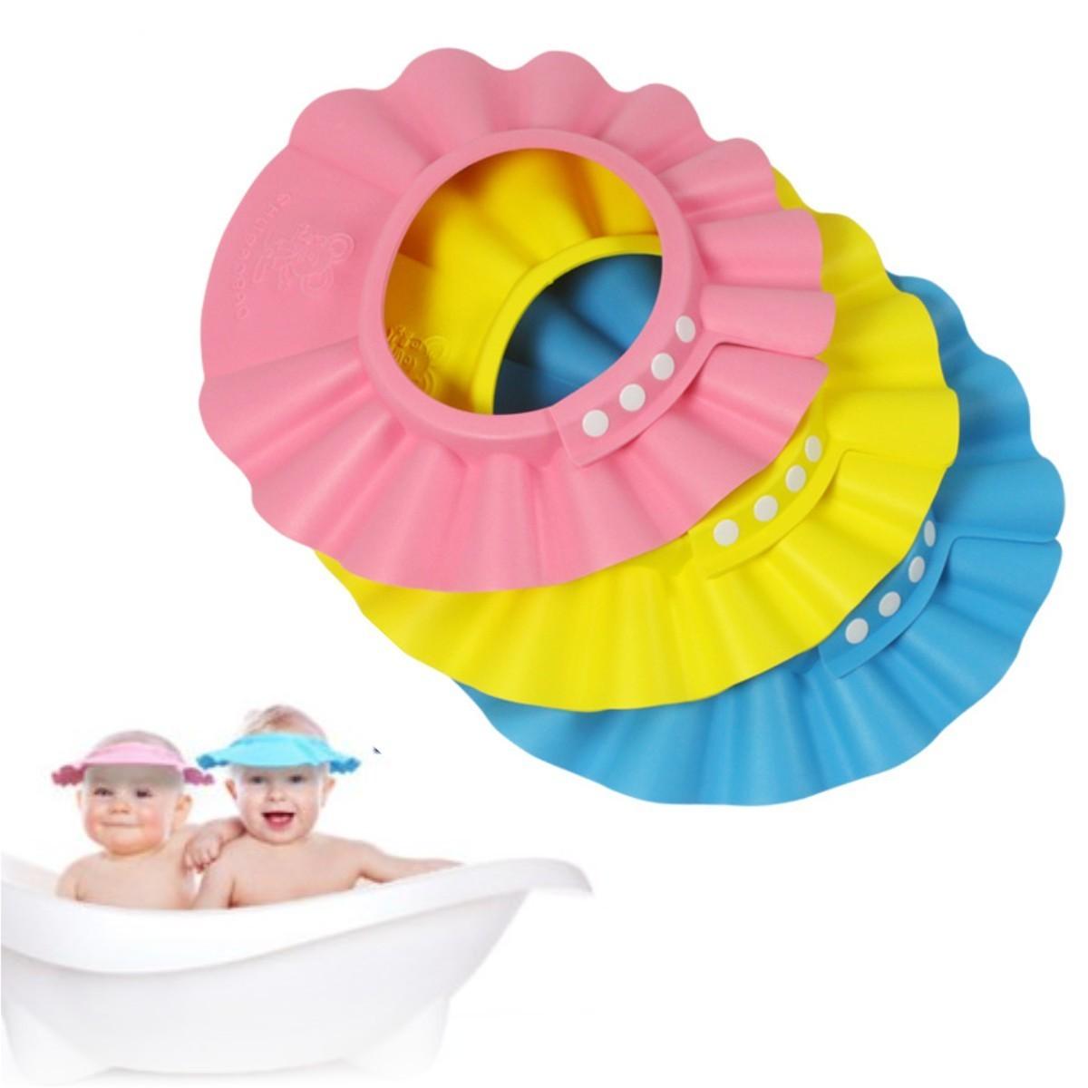 103c4b323 Gorro Visera de Ducha para Baño Bebé Niño Protege sus Ojos del shampoo