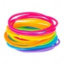 Gummy bands Kit de 6 Pulseras Neón brillan con luz UV ideal fiesta glow