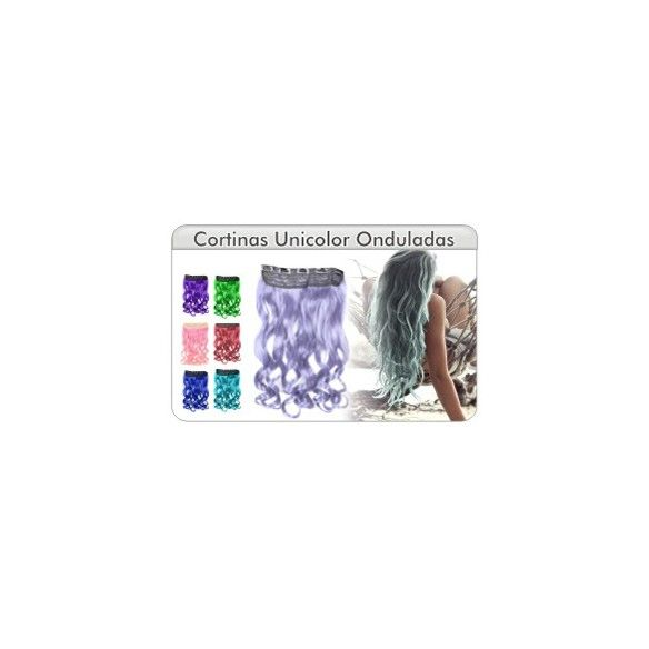Cortina Unicolor Ondulada
